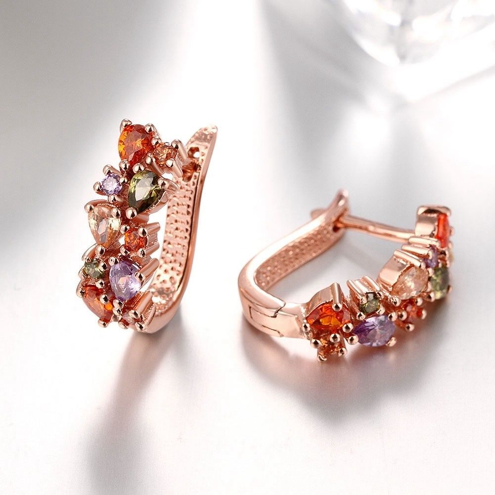 Colorful Ear Clip Dinner Earrings Made with Swarovski Elements
