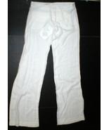 New Womens Designer Patrizia Pepe Pants 40 4 Wide Work Viscose White NWT... - $365.00