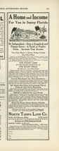 1923 North Tampa Land Co. Ad Sunny Florida Real Estate Orange Groves FL - $9.99
