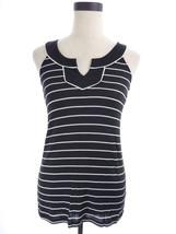 Robin K Black & White Striped Sleeveless Top Size Small - $18.00