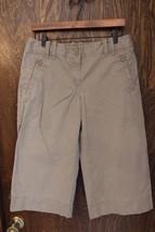 W10308 womens ANN TAYLOR LOFT khaki tan CAPRI MARISA chino cropped leg p... - $13.55