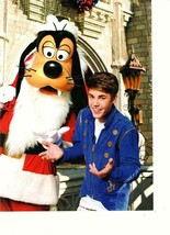 Justin Bieber teen magazine pinup clipping Japan Disney World Christmas ... - $3.50