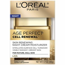 L'Oreal Paris Age Perfect Cell Renewal Night Cream Moisturizer with Sali... - $14.95