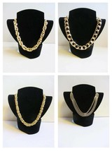 choice of gold plated 80's gold necklaces chocker short rope chain new m... - $24.62