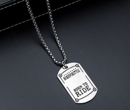 BORN TO RIDE-brand fashion personality Pendant - $9.00