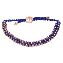 Inspired Silver Royal Blue Courage Inspirational Rope Braided Gold Beade... - $494,26 MXN