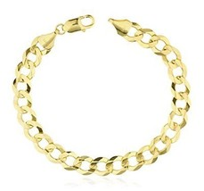 14k Yellow Gold Solid Cuban 8.5 Inch 9.7mm Link Bracelet (GO-1814).. - $1,171.10