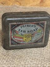 Packers Tar Soap, Vintage Tin, Bathroom Decor, Farmhouse, Rustic - $15.00