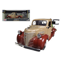 1941 Plymouth Tow Truck Brown 1/24 Diecast Model Car by Motormax 75342 - $37.09