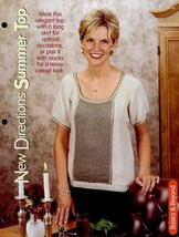 "New Directions Summer Top Sz 34"" To 44"" Knitting PATTERN/INSTRUCTIONS Leaflet - $1.77"