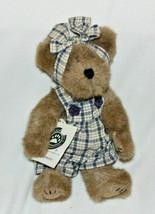 "Boyds Bears 10 in ""Brooke B. Bearsley"" Style #917400 Retired Girl Blue Plaid Bib - $18.37"