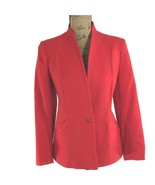 VTG 100% Wool Blazer L.C. Mae True Red 2 Pocket V Front Long Sl Jacket C... - $39.95