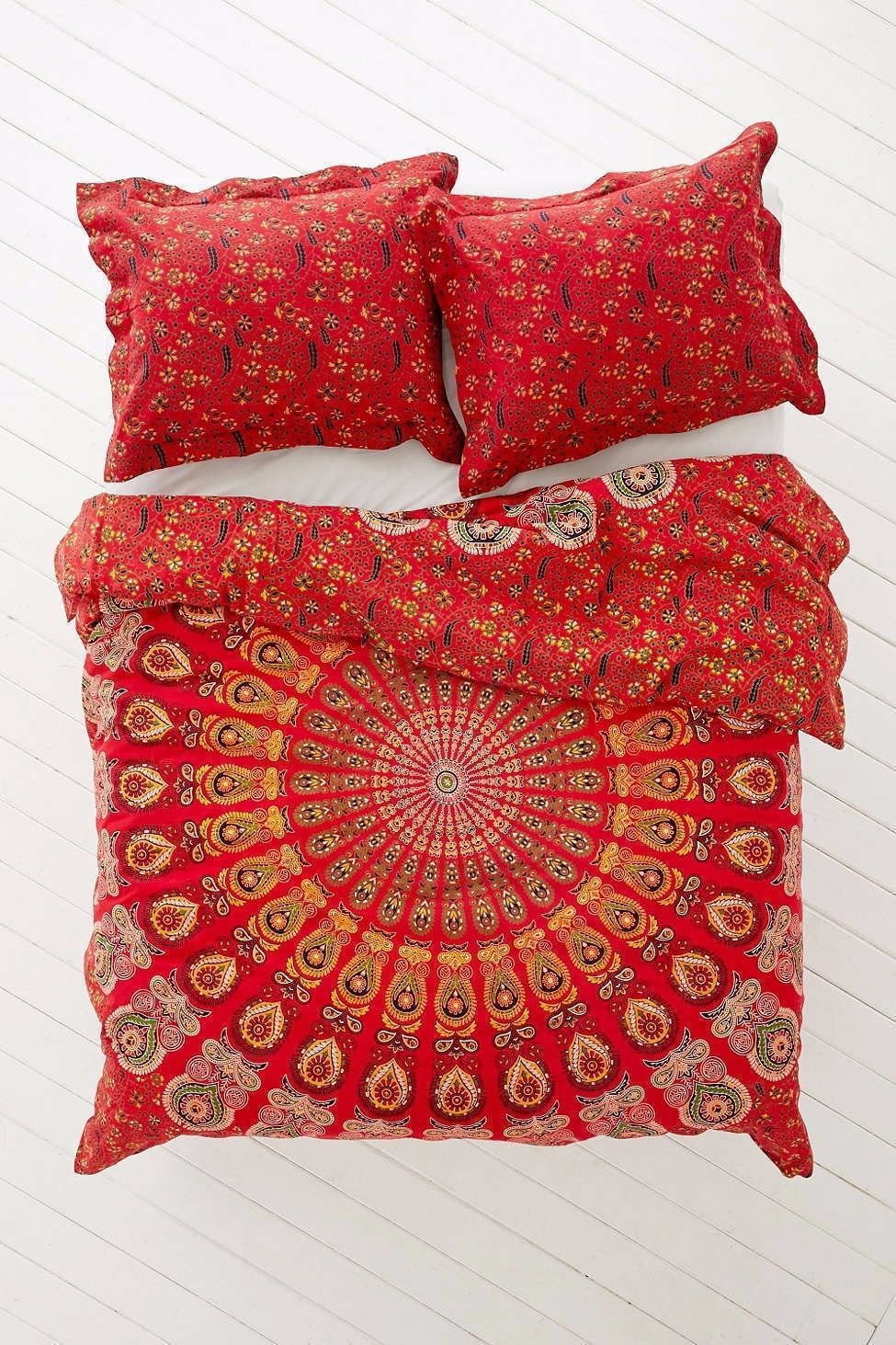 Primary image for Red Mandala Print Home Decor Bed sheet Wall Hanging Tapestry Handmade Throw 001