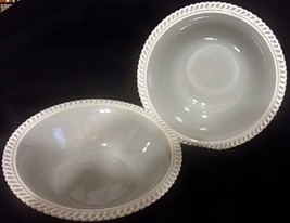 "2 Vintage Harker Pottery Chesterton Ware Gray Serving Bowls 9"" - $39.59"