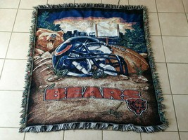 """Chicago Bears Tapestry Throw Blanket 42"""" x 30 The Northwest company NFL - $28.50"""