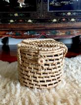 Straw Bag,Straw Basket Tote,Round Straw Bag Basket,Straw Beach Picnic Ba... - $85.00