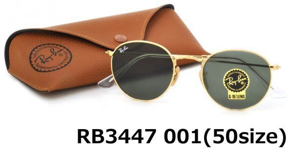 3bdd426629 57. 57. Previous. RAY-BAN ROUND METAL SUNGLASSES RB3447 001 50MM GREEN LENS  WITH GOLD FRAME · RAY-BAN ...