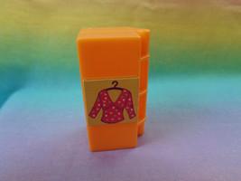 Mattel Polly Pocket Dollhouse Replacement Orange Case / Closet Accessory... - $2.92