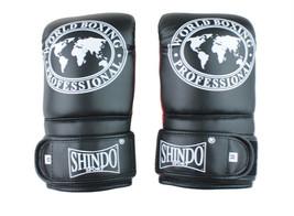 MMA Gloves Black Shin-do Boxing Gloves Martial Arts - $28.23