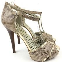 35 Simpson Jessica 5 Peep Multi 5 Britni 5 Toe Heels Print Platform Snakeskin Sz wqS4Awr