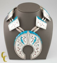925 Argent Sterling Turquoise Oiseau Accent Navajo Collier - $1,349.29