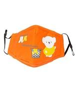 Cotton PM2.5 Anti-smog Antibacterial Carbon Mask Children Masks Bear Orange - $11.41