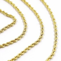 18K YELLOW GOLD CHAIN NECKLACE, BRAID ROPE LINK 31.5 INCHES, 80 CM MADE IN ITALY image 2