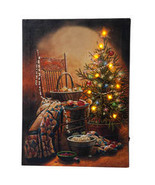 Doug Knutson Lighted Country Christmas Canvas by Holiday Peak - $30.19