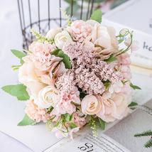 Silk Rose Wedding Bouquet - $21.99