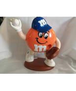 M Ms Orange Baseball Pitcher on Mound Milk Chocolate Candy Dispenser 91/... - $19.99