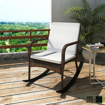 vidaXL Patio Rattan Wicker Rocking Chair Garden Yard Outdoor Arm Chair 2... - €82,33 EUR