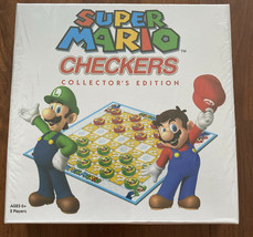 Super Mario Brothers Checkers Collector's Edition Board Game NEW Sealed USAopoly - $11.29