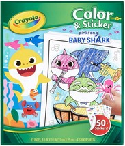 Crayola Color & Sticker Pinkfong Baby Shark Book 32 page & 50+ Stickers - $4.99