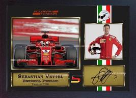 New 2018 Sebastian Vettel signed autograph print photo Australian GP Framed - $19.27