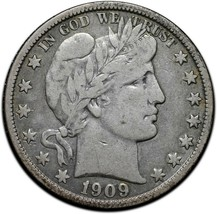 1909O Silver Barber Half Dollar Coin Lot A 350 image 1