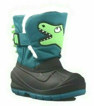 Cat & Jack Toddler Boys' Green Huxley Dinosaur Water Resistant Winter -10F Boots