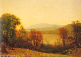 Autumn On The Hudson American Landscape Painting By Thomas Whittredge Repro - $10.96+