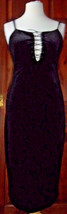 Gothic black velvet dress with front lacing. Size 14 (more a 12) see description - $25.24