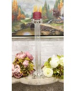 "Contemporary Crystal Glass Pillar Column Candle Holder Candlestick Accent 18""H - $68.99"