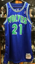 Kevin Garnett #21 Wolves Jersey Sz 50 Adidas 1995-96 Mitchell & Ness - $41.15