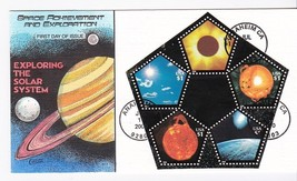 EXPLORING THE SOLAR SYSTEM #3410 SHEET FIRST DAY COLLINS HAND PAINTED 7/... - $55.14