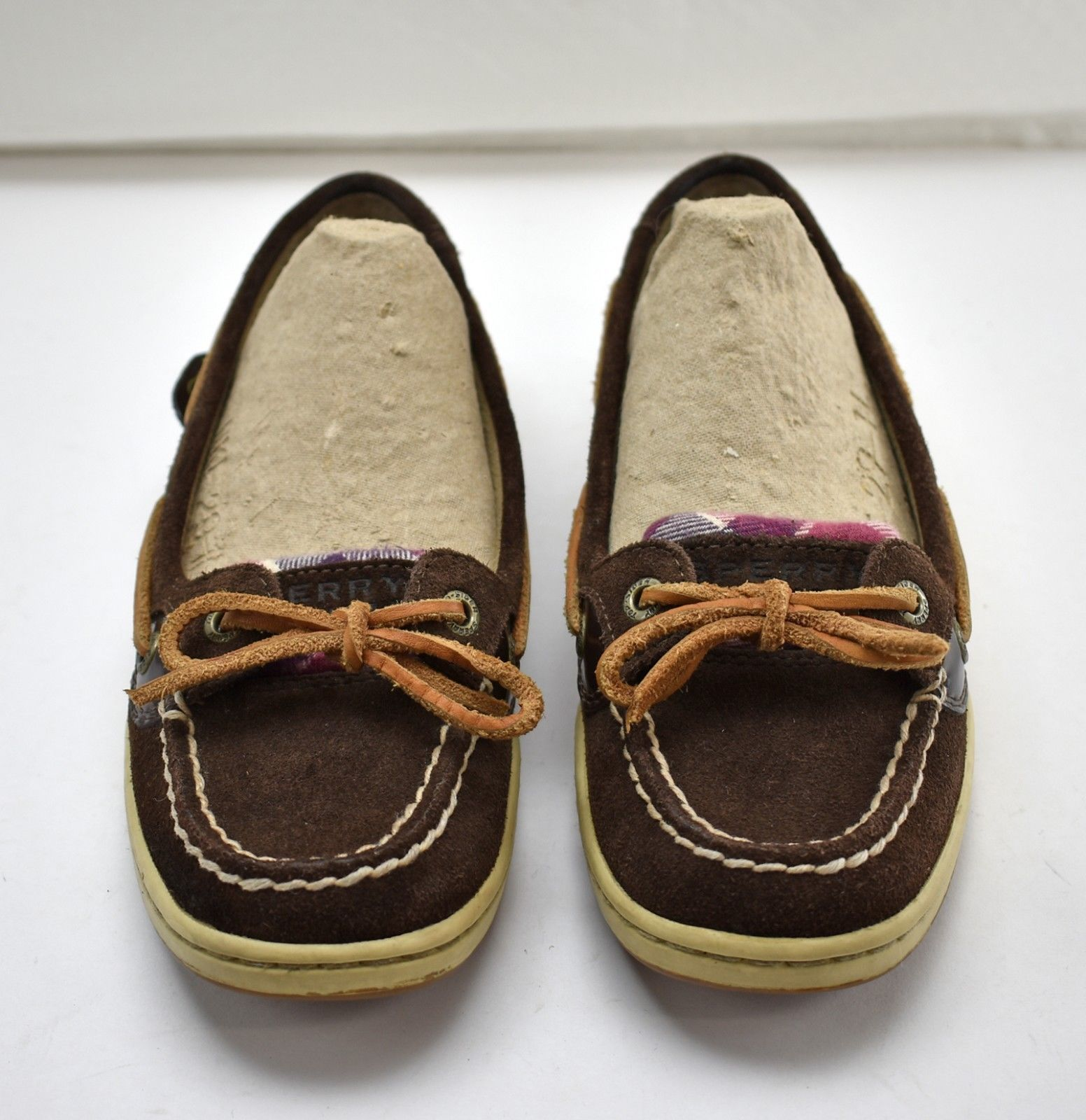 52456e59f028 Sperry Top-Sider Brown Suede Leather Pink and 50 similar items