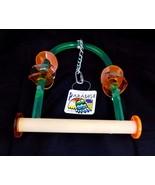 "Paradise Toys Medium Bird Swing Perch 10"" x 6"" Wood Acrylic Activity 325... - $11.99"