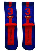 DC Comics SUPERMAN Single CREW Men Athletic Socks Half Cushion One Size ... - $11.99