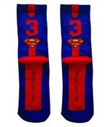 DC Comics SUPERMAN Single CREW Men Athletic Socks Half Cushion One Size ... - $11.99