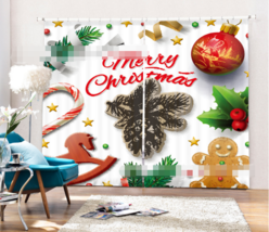 3D X'mas Gift18 Blockout Photo Curtain Printing Curtains Drapes Fabric Window UK - $145.49+