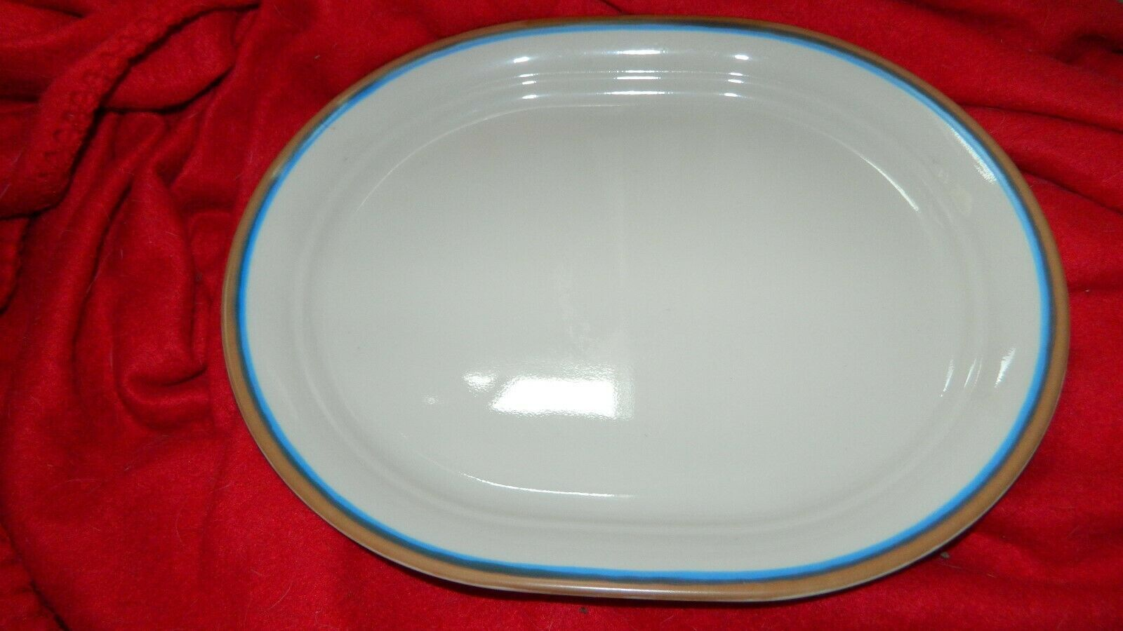 Primary image for CORELLE CORNERSTONE BAYSCAPE? UNKNOWN PATTERN OVAL SERVING PLATTER FREE USA SHIP