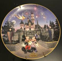 BRADFORD DISNEY SLEEPING BEAUTY CASTLE 40th Anniversary Plate Disneyland... - $14.03