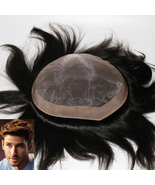Fine Mono with PU Perimeter and Folded Lace Front Hair Systems Men Toupee - $113.30