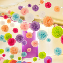 Diy Multi Colour mixed Sizes 15pcs Paper Flowers Ball Wedding Flowers  - $3.88